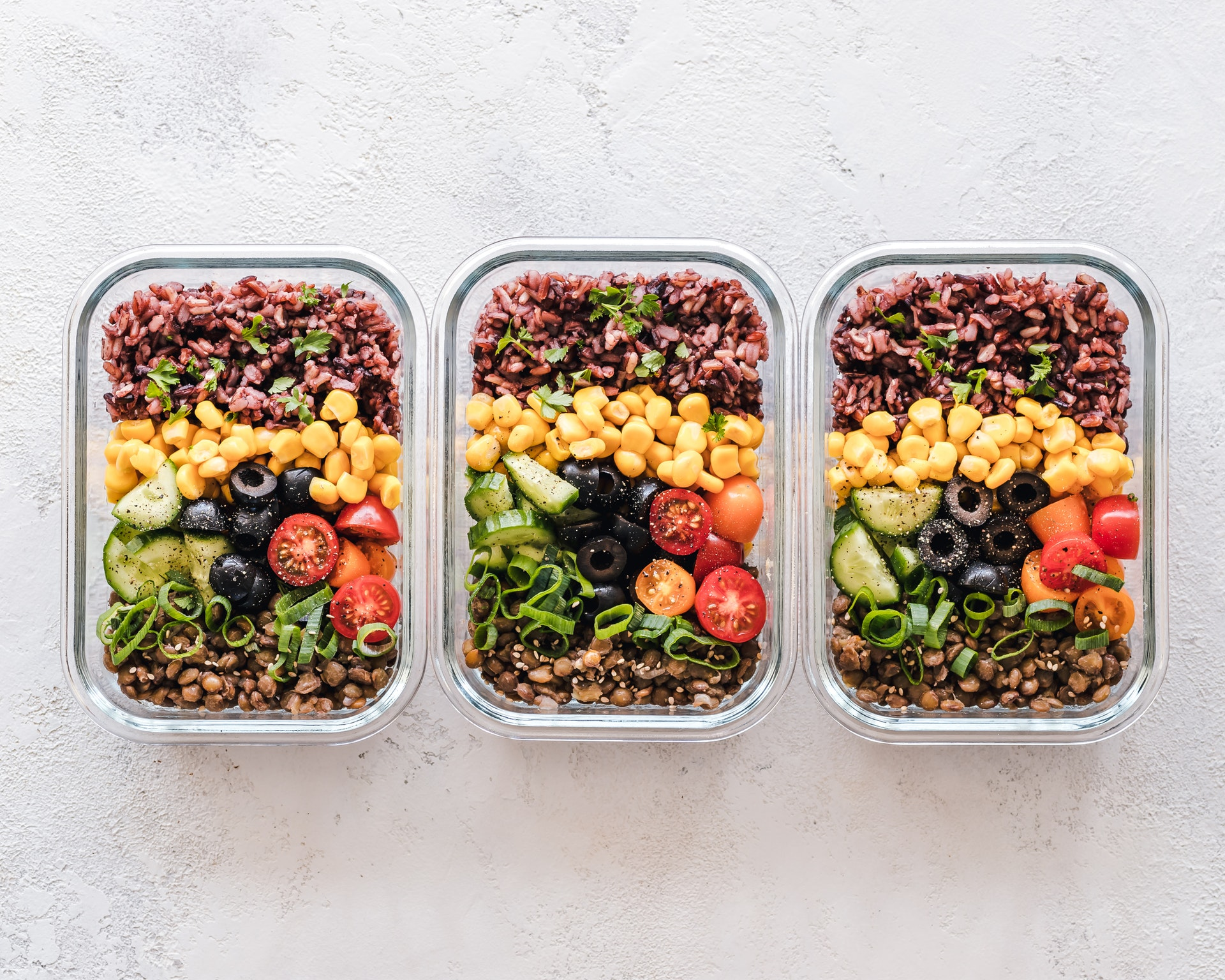 meals in 3 bowls